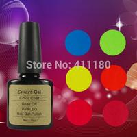 12Pcs/lot Free Shipping Smart Gel Soak Off UV LED Nail Gel Polish  (10pcs color gel+1pc base gel+1pc top coat+FREE SHIPPING)