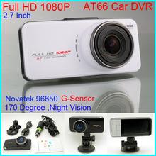 """AT66 1080P HD Car Camera 2.7"""" screen 170 Wide Angle Night Vision G-sensor Car DVR Video Recorder Vehicle Traveling Car Camcorder(China (Mainland))"""