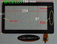 """2PCS 7inch 7"""" touch screen touch panel for TABLET PC LS-CG0700MG18 V1.0 LS-FPC0700MG14 LS FPC0700MG14 FPC0700MG1 4C KEY"""