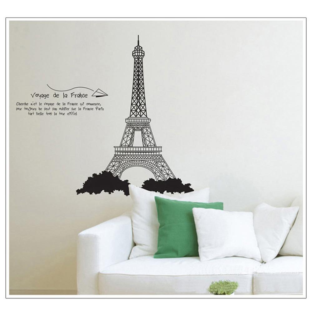 Diy torre Eiffel avião De papel adesivos De Parede removível para sala Art Mural De decoração para decoração cartaz Adesivo De Parede(China (Mainland))