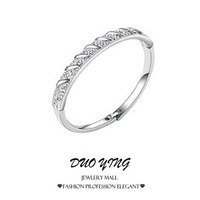 2015 Retro Korea Style Forever Love Austrian Crystal Round Silver And Gold Bracelets Bangles For Women pulseiras