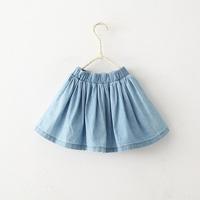 New arrival girls spring summer fashion denim skirts kids casual jeans skirt 1165