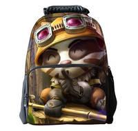 16-inch Multi-function Waterproof Bags 3D Cute LOL Timo Patterns Portable Outdoor Travel Bag Sport Bag School Backpacks