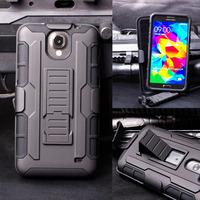 Future Armor Impact Holster Hybrid Hard Case For Samsung Galaxy Mega 2 G750F G750a G7508Q Protective Phone Cover + Flim + Stylus