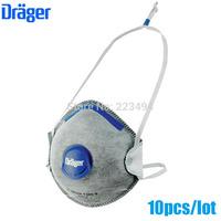 10 Pcs/lot drager original disposable masks particulate respirator anti-fog/haze/PM2.5 mask headband 1320VO free ship ZSY012913