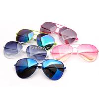 2015  fashipn Styles Cool Fashion Sunglasses Goggle AVIATOR Metal Eyewear Bat Mirror UV Protection Multi Color hot sale JHSG013