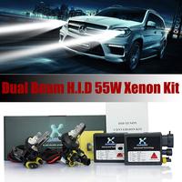 2015 Dual beam fast start Car Hid Xenon Kit 35W 12V DC 2 Pcs Slim Ballast &H1/H3/H4/H7 block fast start