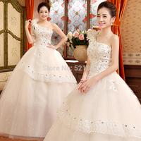 lace vintage wedding dress ball gown wedding dresses new 2015 vestido de noiva fashionable bridal gown flowers 750