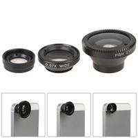 3 in 1 Wide Lens + Macro Lens + 180 Fish Eye Lens Universal Multi-function Lens for iPhone 4 / 4s / 5 / 5s / 5c / Digital Camera