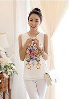 Korean Fashion Women Slim Chiffon Sleeveless Casual Vest Tops Plus Size S-XXL