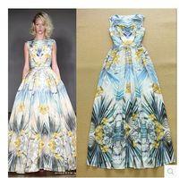 2015 Newest Women Runway Vintage Bohemia Floral Maxi Long Dress  Floor Length Tank Dress Summer  Dress S-L Free Shipping