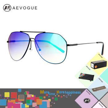 Aevogue с чехол большой кадр старинные авиатор солнцезащитные очки мужчины градиент ...