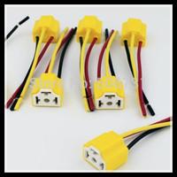 Car headlight ceramic plug H4 headlight lights socket holder 9003 HB2 lamps Holder 3 Pin Plug H4 Ceramic Socket