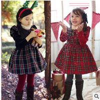 2015 girls cotton princess dresses new arrival vestidos children cute dress kids fashion winter pageant party clothes YF-109