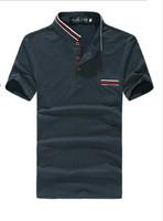 2015 summer hot sale men's fashion brand tops tees Men casual cotton t shirt Slim fit short sleeve t-shirt   Plus size M-XXL