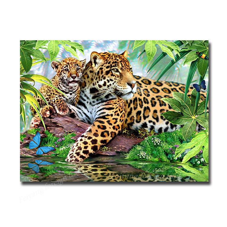 вышивка животных гепард