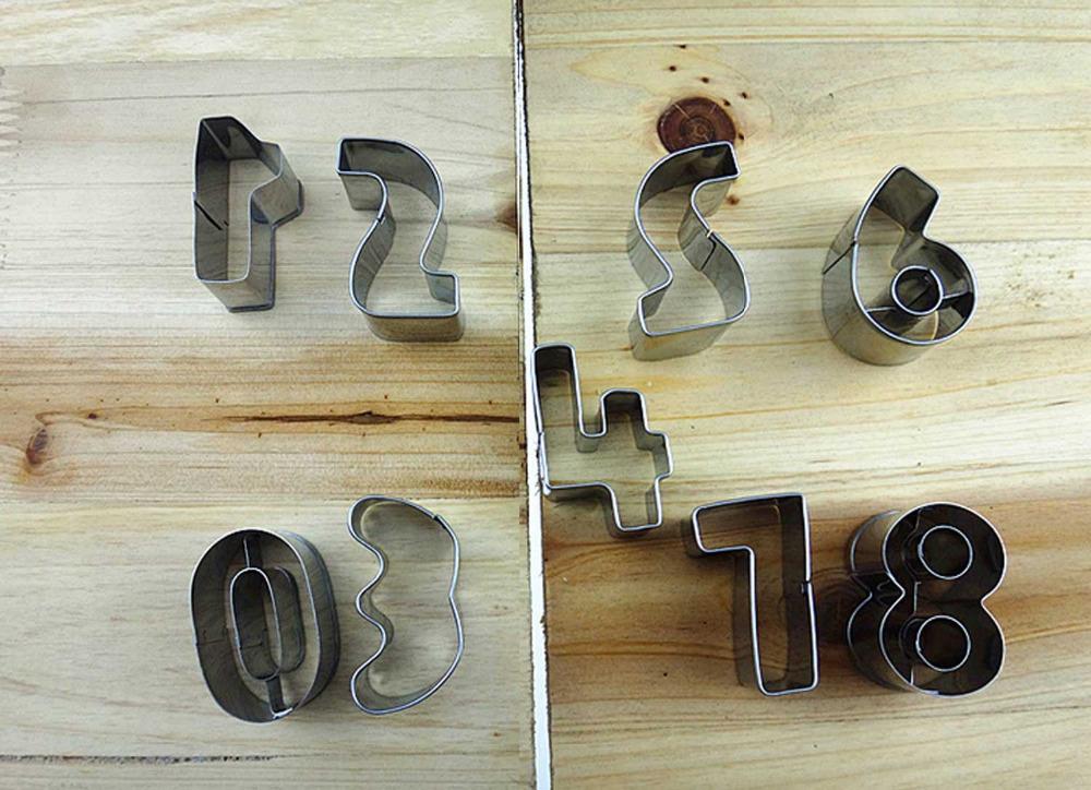 1 conjunto número molde decoração do bolo biscoito cortador Sugarcraft ferramenta de pastelaria H10371(China (Mainland))