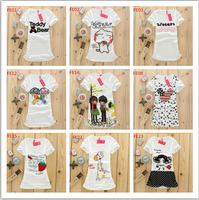 Hot sale !New women/girls T shirt cotton print tshirts ,short sleeve o-neck tees,high quality fashion students t shirt free ship