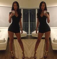 Rompers womens jumpsuit 2014 New Fashion Sexy Bodycon bodysuit Bandage Party jumpsuit women club jumpsuit