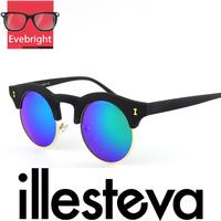 2015 New Fashion Womens Sunglasses Brand Designer Oculos Illesteva Sunglasses Famous Brand Women Round Retro Sunglasses