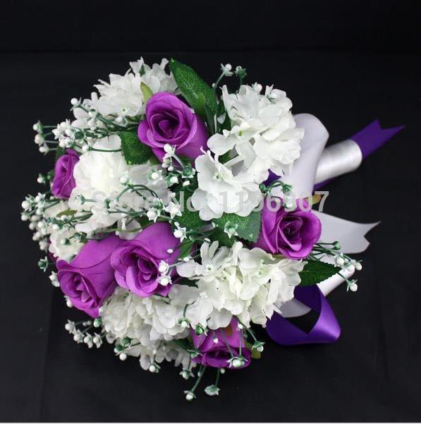 2015 Hot Sale Artificial Wedding Bridal Bouquet 3 Color To Choose For Wedding Decoration