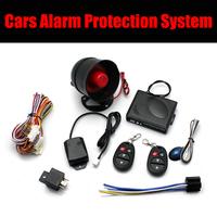 1 Way Car Alarm Protection entry System Shock sensor siren kits 2 Remote Control Auto Burglar Systems anti-theft Alarm wireless