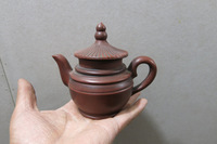 Old Chinese Handcraft Enameled  YiXing Zi Sha Clay  (Purple stoneware) Teapot ,Tower,with mark,Free shipping