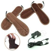 M65 New 1Pair Rechargeable Battery Women Men Heated Insoles Foot Warmer Warm Winter