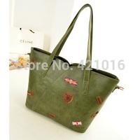 2015 new style casual shoulder bags appliques decor sample messenger hand bags for woman zipper versatile bags hot sale