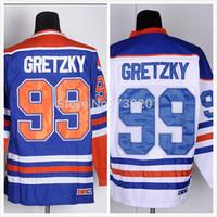 2015 Wholesale Ice Hoceky Jersey Cheap #99 Wayne Gretzky Hockey Jersey Stitched and Sewn