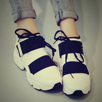 2014 autumn models of mixed colors female pop sneakers shoes casual shoes platform shoes low shoes sneakers DD1870