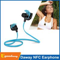 Original Daway Bluetooth 4.0 Headset Wireless In-ear Headphones Sports Stereo Earphones Microphone Handsfree Sweat Proof NFC Fun