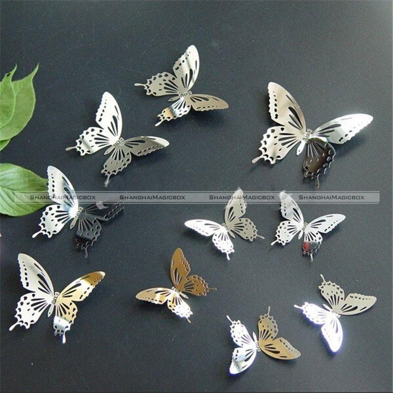 Excellente qualit papillon en m tal d coration murale for Decoration murale papillon 3d