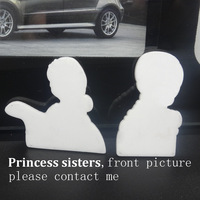 Stock!!!! 50pcs 1.2inch Popular flat back Cartoon planar resin MOVIE PRINCESS SISTERS shrinkys for diy decoration crafts RET197