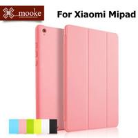 Original Brand Mooke Luxury Ultra Thin Flip Foldable Stand Leather Case Wake Sleep Smart Cover For Xiaomi MiPad Mi Pad Shell