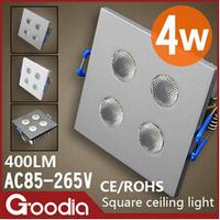 LED 4W CREE ceiling lights White/black/silver shell AC110V220V 4W Modern Ceiling lamp kitchen home indoor lighting