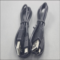 USB 2.0 A Male to Mini B 5 Pin 5P Cable for Devices MP3 MP4 Camera Mobile Phone 1000pcs + free shipping