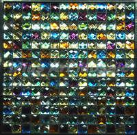 [Mius Art Mosaic] Beveling Edge Multi Color 13 faced  mirror Glass Mosaic Tile for Kitchen Backsplash E72038