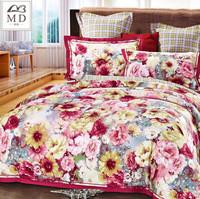 MD bedding set 4pcs 100% cotton king queen size Flowers owl bed duvet quilt cover bedsheet bedclothes linen