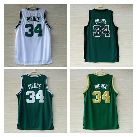 #34 Paul Pierce Jerseys Cheap Basketball Jersey Embroidery Stitched Logos Wholesale Boston Jersey Size S-XXXL Free Shipping(China (Mainland))