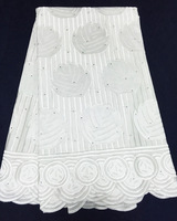 5yds/lot! white! 2015 newest african cotton lace material,super high quality korean lace fabric for making dress!! CCL020103