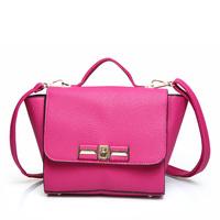 Women's handbag 2014 litchi wings women's handbag casual solid color one shoulder cross-body bag small