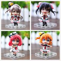 "Love Live! 4pcs Set Cute Character 9cm/3.5"" Mini Figure Collection TOY"