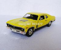 1969 Chevrolet Nova SS Yellow Diecast Vintage Car Model 1:32 Scale Die-cast Vehicle Toy SD21