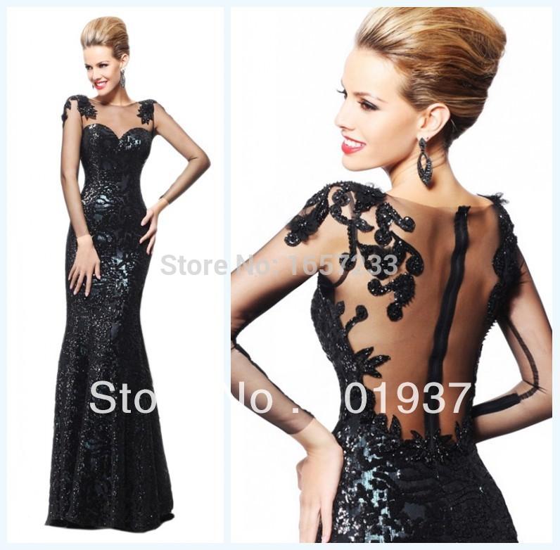 Prom Dresses 2013 Long Long Sleeves Prom Dresses