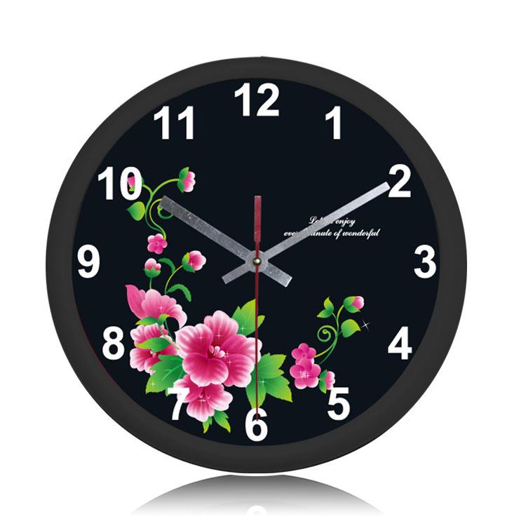 Free Shipping 10 inch Round Wall Clock Quartz Clock Home Decor Digital Watch Hot New Product China Factory Wholesale(China (Mainland))