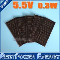 High Quality! 2PCS X 0.3W 5.5V Mini Solar Cell Solar Module Monocrystalline Solar Panel DIY Solar Charger 86*38MM Free Shipping