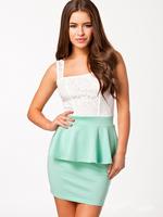 Women Lace Casual Dresses Empire Summer New Ruffled dress