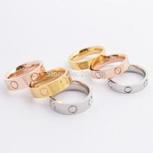 Women / Men Hot Brand Screw Lovers Rings Silver/ Rose Gold/ 18k Gold 316L Stainless Steel Screw Wedding Rings Wholesale