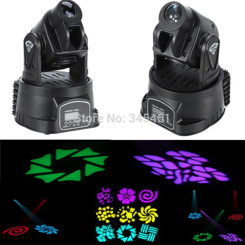 4pcs RGB 15W DMX Mini MOVING HEAD LED Party Stage DJ Disco Club Spot Light RGB color mixing Dimmer & Strobe Led Bar Stage Light(China (Mainland))